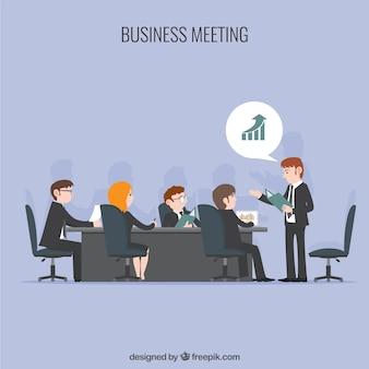 Business meeting illustration Premium Vector