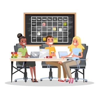 会議室のコンセプトでのビジネス会議。