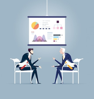 Business meeting and presentation board. business concept vector