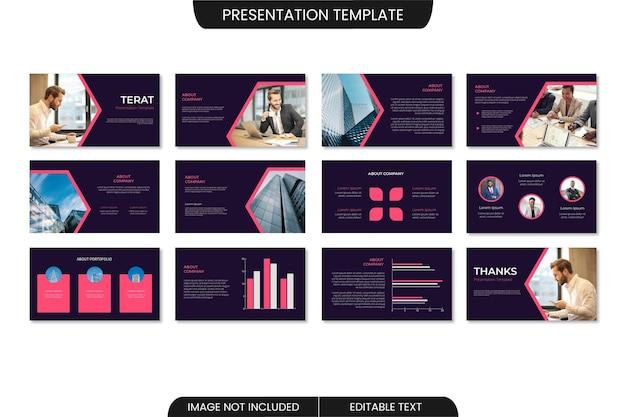 ビジネス最小限のパワーポイントプレゼンテーションテンプレートデザイン