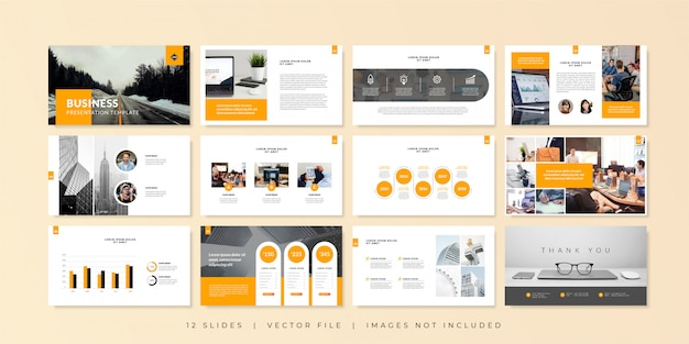 Business minimal slides presentation template.