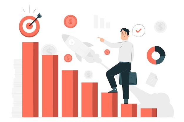 Иллюстрация концепции бизнес-миссии