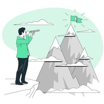 Illustrazione del concetto di missione aziendale