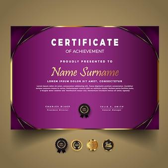 Business modern certificate template