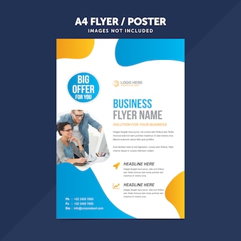 Business multipurpose a4 flyer leaflet vector template