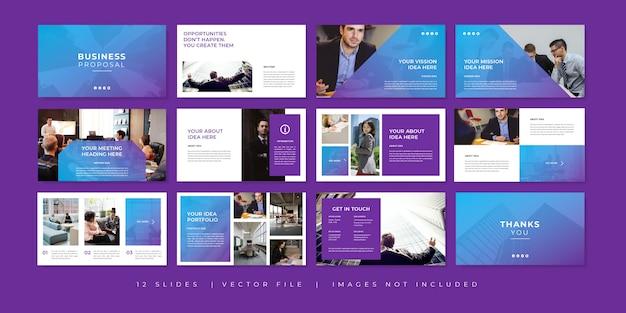 Шаблон презентации бизнес-многофункциональных минимальных слайдов