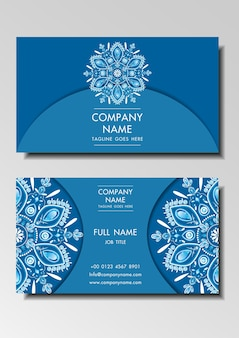 Business name card vintage design vector