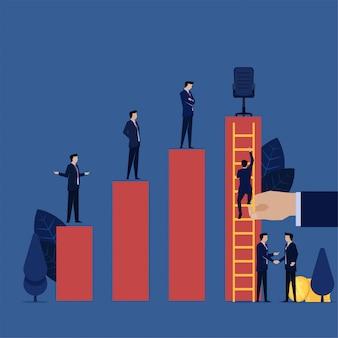 비즈니스 네 포티 즘 부패는 관리자 의장직을 맡기 위해 돈을줍니다.
