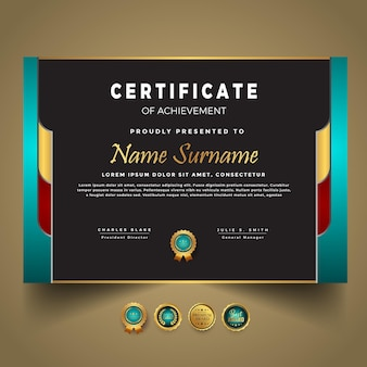 Business new certificate template vector