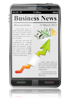Business news on smart phone