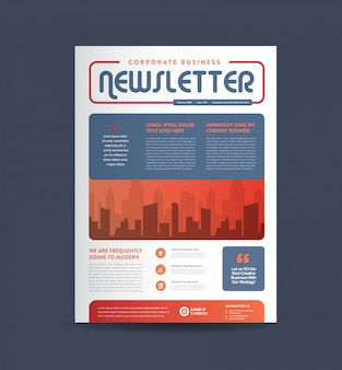 Business newsletter cover design | journal design | monthly or annual report design
