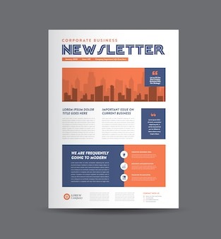 Business newsletter design | journal design | monthly or annual report design