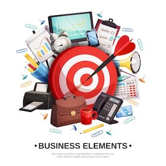 Шаблон оформления бизнес-аксессуаров