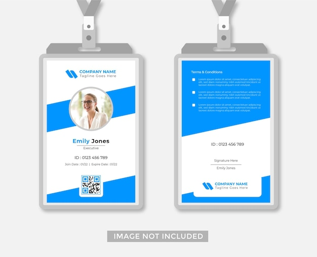 Business or office id card design abstract style vector