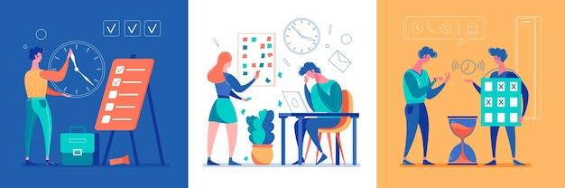 Business office set illustration