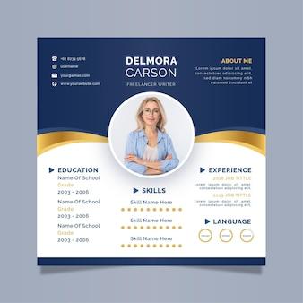 Business online cv template