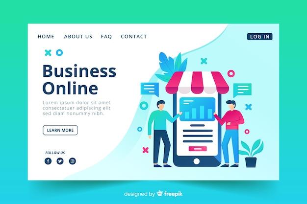 Бизнес онлайн целевая страница