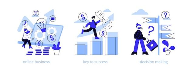 Набор бизнес-возможности абстрактной концепции иллюстрации.