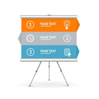 비즈니스 옵션 배너. 보고서 및 프레젠테이션에 사용할 수 있습니다.
