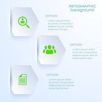 Business option infographic template