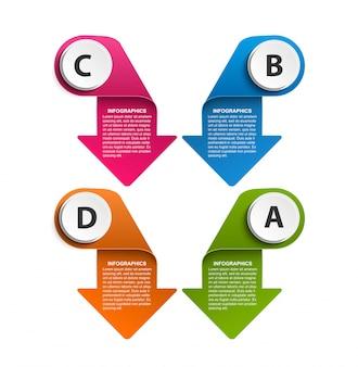 ビジネスオプションインフォグラフィック、デザインテンプレート。