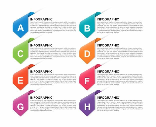 Шаблон оформления бизнес-вариантов инфографики