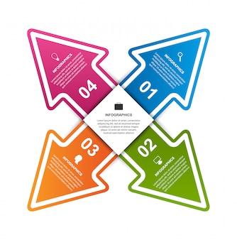 ビジネスオプションインフォグラフィック、タイムライン、デザインテンプレート。