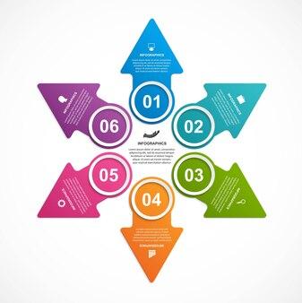 ビジネスオプションのインフォグラフィック、タイムライン、デザインテンプレート。