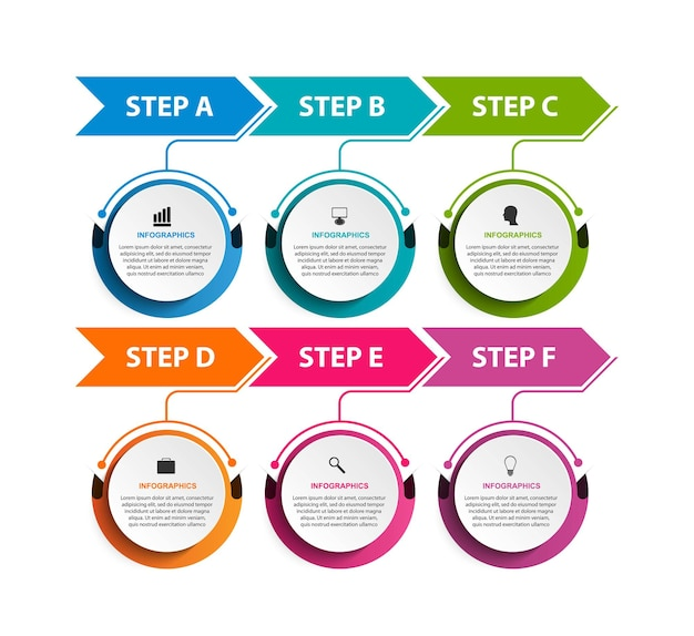 비즈니스 옵션 infographic 타임 라인 디자인 서식 파일