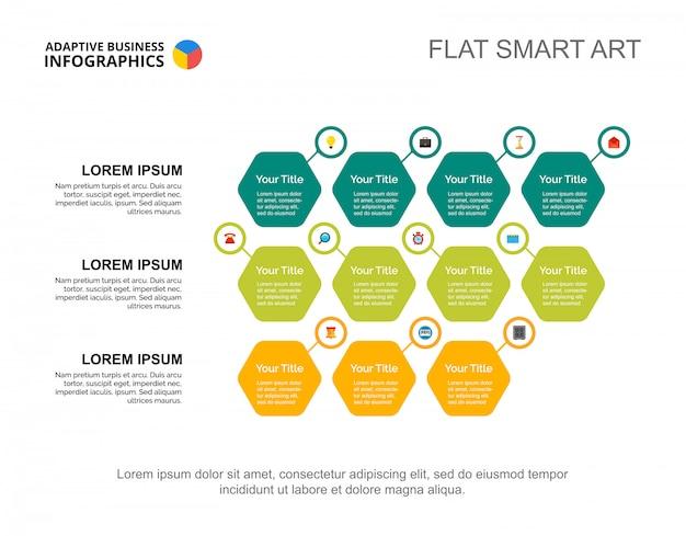 Modello di diapositiva delle opzioni di business. grafico. concept creativo per infografica, report