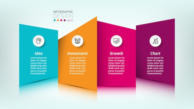 ビジネスまたはマーケティングのインフォグラフィックテンプレート