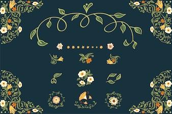 花の背景を描いたビジネスやその他のイベント