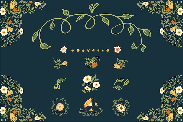 Business or other event painted floral background