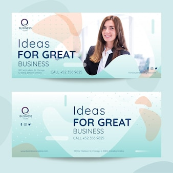 Business pack of banners template