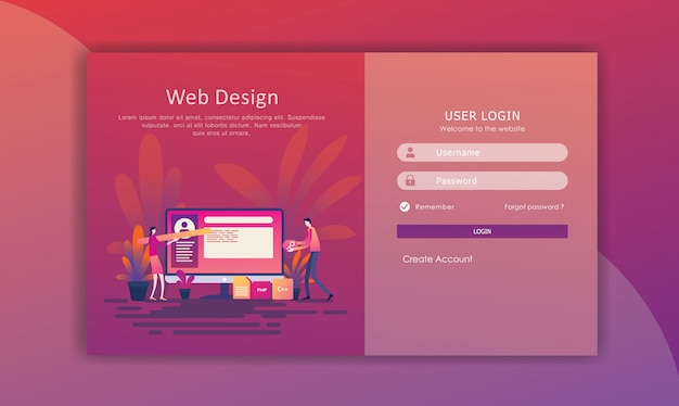 Business page template