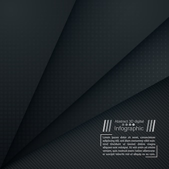 Business paper template - origami background