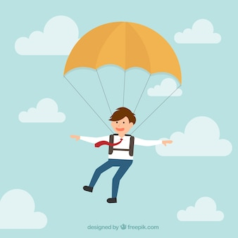 Business parachutist