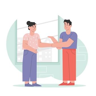 Подтверждение связи с деловым партнером
