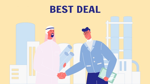 Business partners hand shaking vector illustration