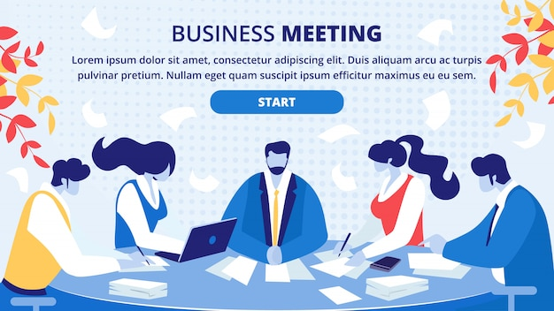 Business partners office meeting  website