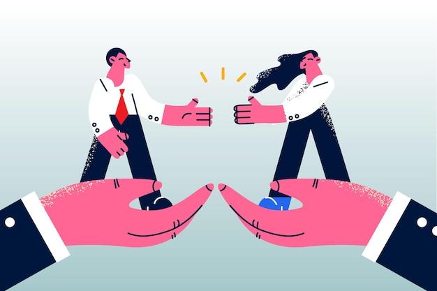 비즈니스 파트너십 계약 거래 개념