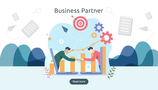Business partnership relation concept