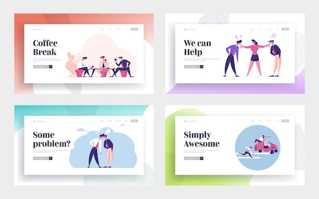Набор шаблонов целевой страницы для деловых людей и офисных работников