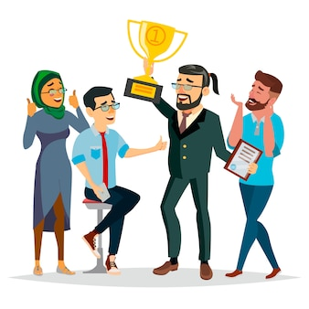 Business people attainment illustration