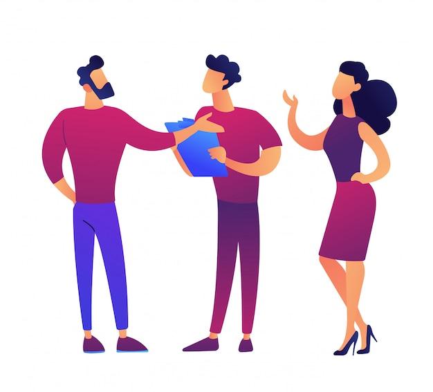 Business people brainstorming vector illustration.