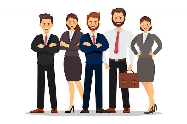 ビジネス人々のキャラクターデザイン。ベクトルイラスト。