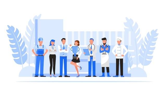 ビジネス人々の文字セット。起業家のコンセプト。