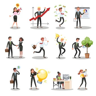 Business people character set. person in suit
