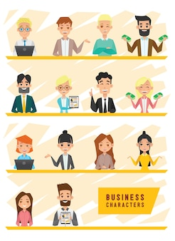 Business people characters design