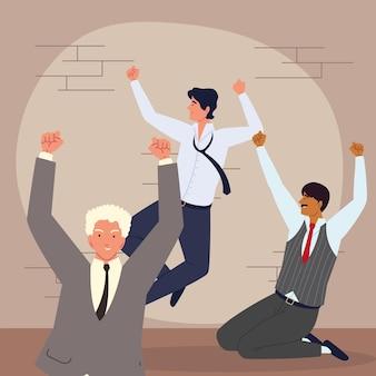 Выражение эмоций персонажей деловых людей